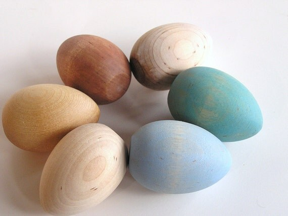 Natural Wood Toy Heritage Breed Easter Eggs Waldorf Toy