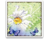 20% OFF - Pretty Blue Butterfly & Daisy Coaster