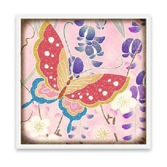 Pretty Pink Butterfly Coaster