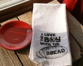 Hunger Games Tea Towel.  I Love the Boy with the Bread Quote.  Peeta.