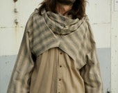 RECYCLED.LV beige shirt with cowl neck, design/10