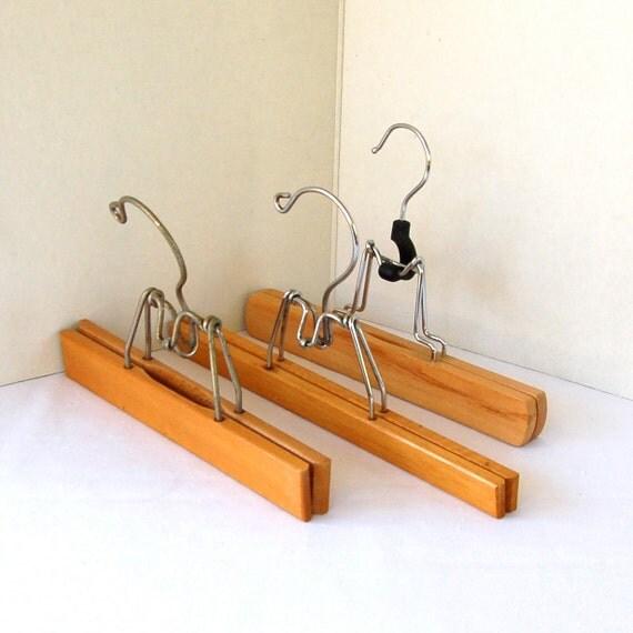 Three Wooden Skirt Hangers