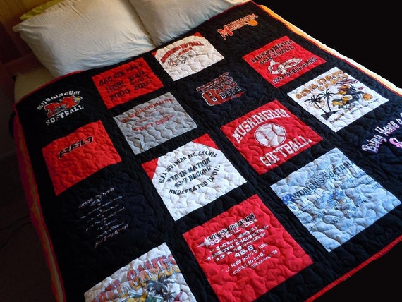 Items Similar To Custom Made Memory T Shirt Quilts