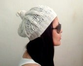 KNITTING PDF PATTERN Summer Lace Beret Knot Beanie Hat