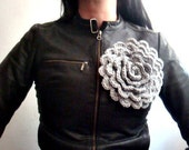 PDF PATTERN Large Crochet Flower Pin Brooch Accessory, 19