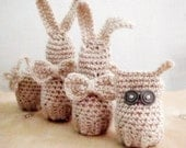Easter Amigurumi Crochet PDF PATTERN Set Bunny Owl Egg Cover Cozy Easter Home Decor Instant Download6