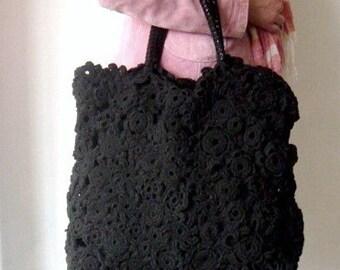 PATTERN Crochet Tote, Large Handbag Crochet Pattern, Tote Bag DIY Tutorial, Crochet Bag Purse Pattern, 36