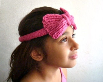 Knit Bow Headband Pattern, Easy Pattern Knit Bow, Tutorial, Hair Accessory, 54