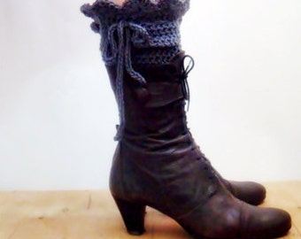 PATTERN Crochet Leg Cuffs, Victorian Legwarmers Pattern, Spats Crocheting Pattern, 12