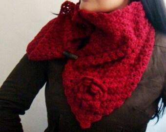 Crochet PATTERN Buttoned Up Cowl, Crochet Neckwarmer Pattern, Scarf Crocheting Pattern, PDF 43