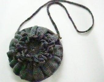 CROCHET PATTERN Cross Body Bag Purse, Crochet Flower, Crochet Bag Pattern, 3
