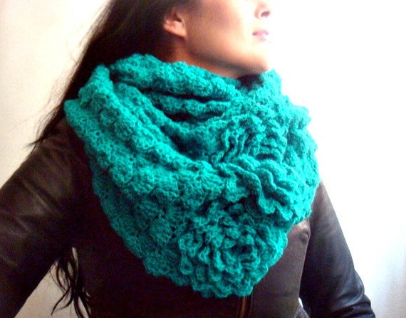 Infinity Loop Circle Scarf Crochet Pattern, Crochet Cowl Pattern, 50