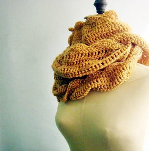 Cowl Crochet Pattern, Large Crochet Infinity Loop Scarf Pattern, 22