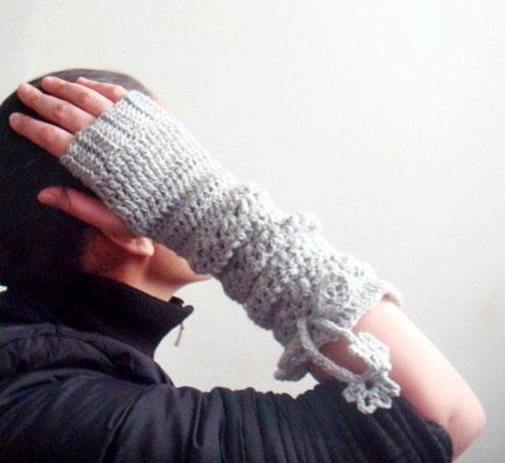 PDF CROCHET PATTERN Long Fingerless Gloves Mittens Arm Warmers, 10