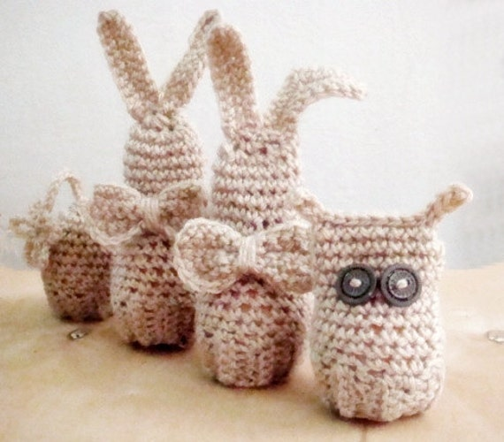 Easter Amigurumi Crochet PATTERN, Set Bunny Owl Egg Cover, Cozy Easter Home Decor, Crochet Egg Cover Pattern, 6