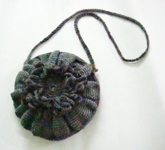 Crochet Pattern Cross Body Bag Purse Crochet Flower Crochet