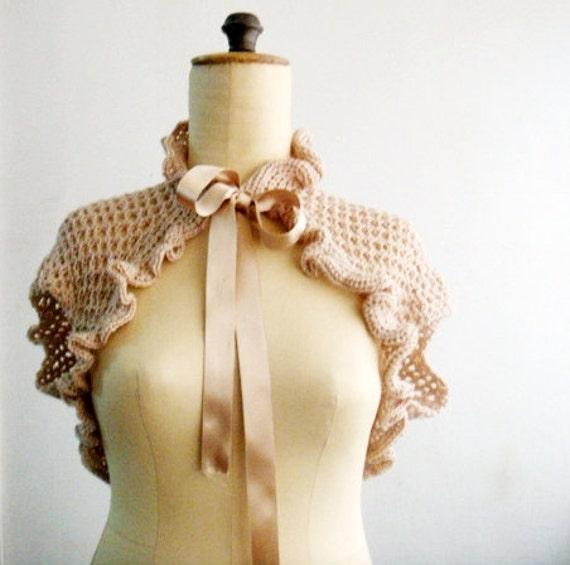 Victorian Shrug Crochet PATTERN, Crochet Bolero Pattern, Crochet Wrap Pattern