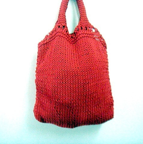 Knit Tote Pattern Grocery Shopping Bag Knitting Patter