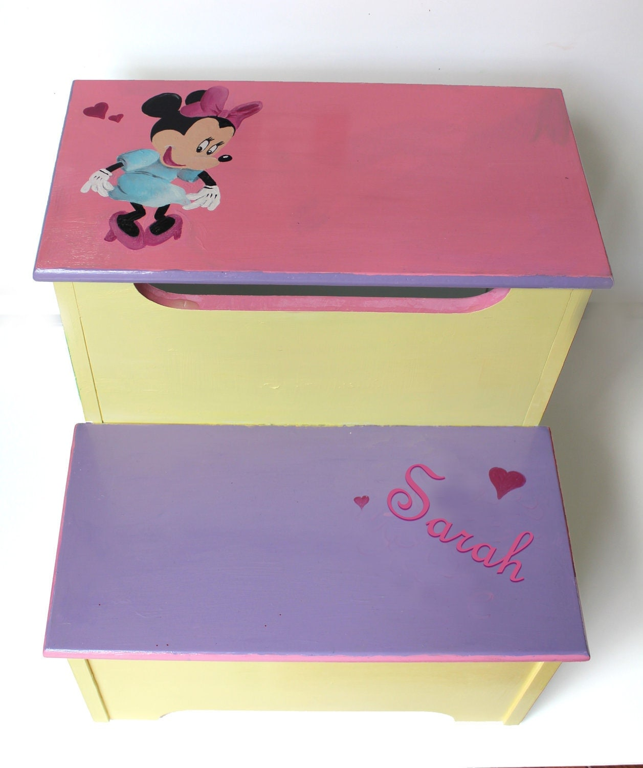 Minnie Mouse Step Stool Custom Personalized
