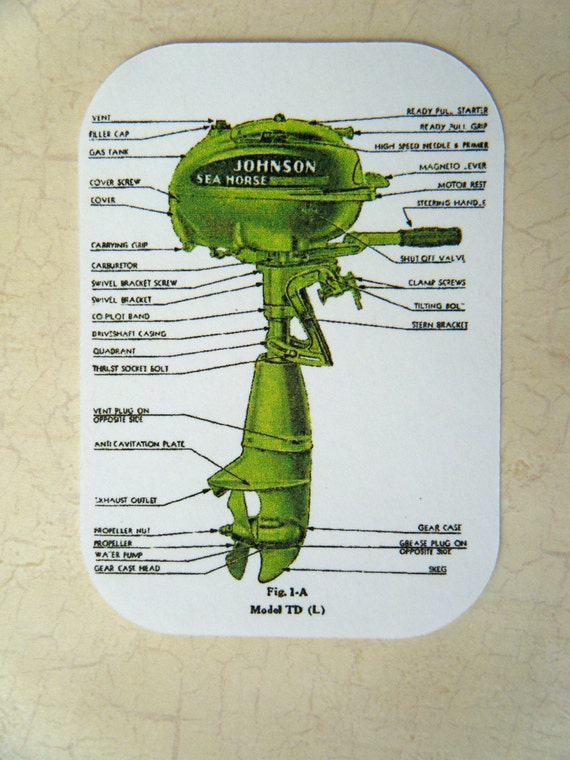 Johnson Sea Horse Boat Motor Diagram Card by scrapshooter ...