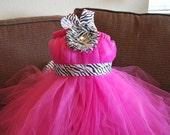 Custom Zebra Tutu Dress size 0-6T - You pick the colors