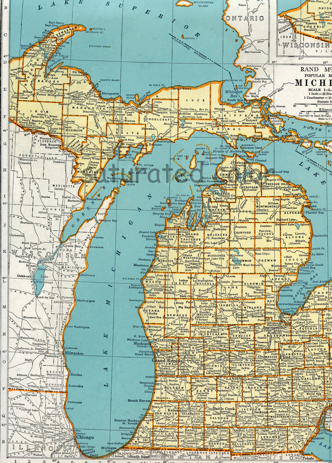 michigan great lakes coloring pages - photo#8