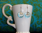 A Fish Called Wanda Earrings - Polished shell combined with a metal disc and Glass Bead