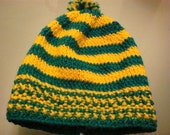 Baby Beanie in Yellow and Green Stripes Kerry GAA RESERVED