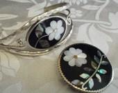 Reserved for Pam--Vintage Alpaca Mexico jewelry set, Vintage bracelet/ brooch/ pendant,vintage bracelet, vintage brooch