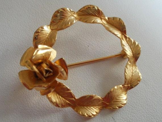 """Vintage brooch, """"Cerrito"""" brooch, signed brooch, designer brooch, wreath brooch"""