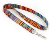 Colorful Wavy Stripe - Lanyard