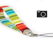 SPECIAL: Buy Three Get One Free > Caribbean Stripe - Camera Wristlet