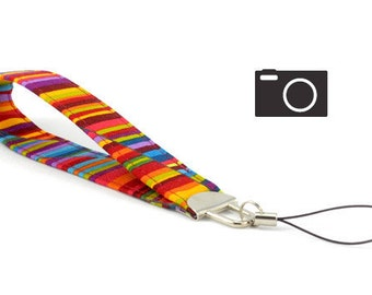 SPECIAL: Buy Three Get One Free > Colorful Wavy Stripe - Camera Wristlet