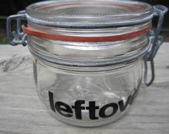 Vintage lidded jar leftovers