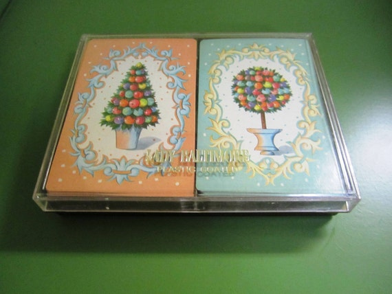 Vintage Lady Baltimore colorful playing cards