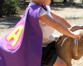 Large Purple Initial Superhero Cape- As Seen in LUCKY KIDS MAGAZINE