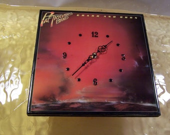 Pat Travers crash and Burn Album Cover Clock
