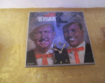 Lester Flatt and Earl Scruggs Album Cover Clock