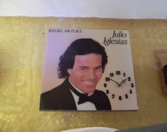 Julio Iglesias 1100 Bel Air Place Album Cover Clock