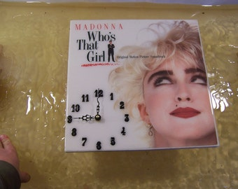 Madonna Who's That Girl Album Cover Clock