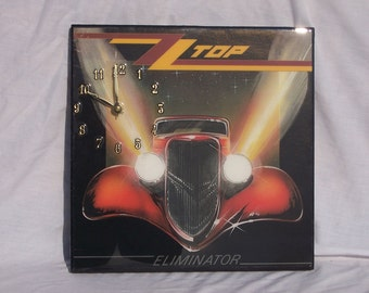 ZZ Top Eliminator  Album Cover Clock