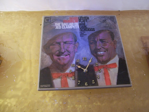 Lester Flatt and Earl Scruggs Album Cover Clock
