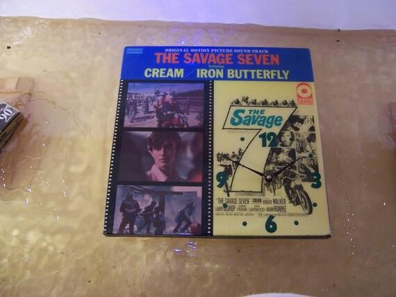 The Savage Seven Soundtrack Album Cover Clock