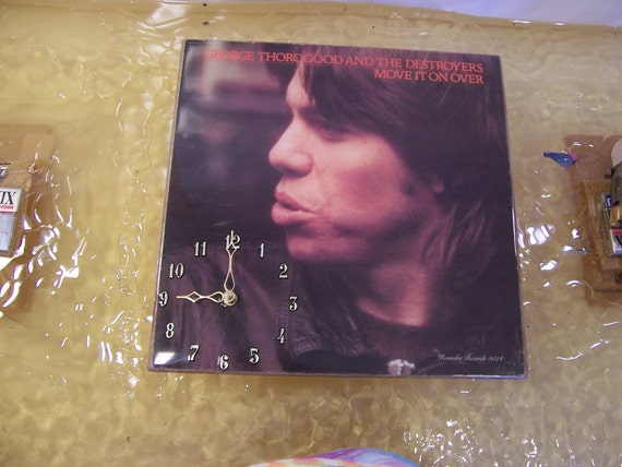 George Thorogood Move It On Over Album Cover Clock