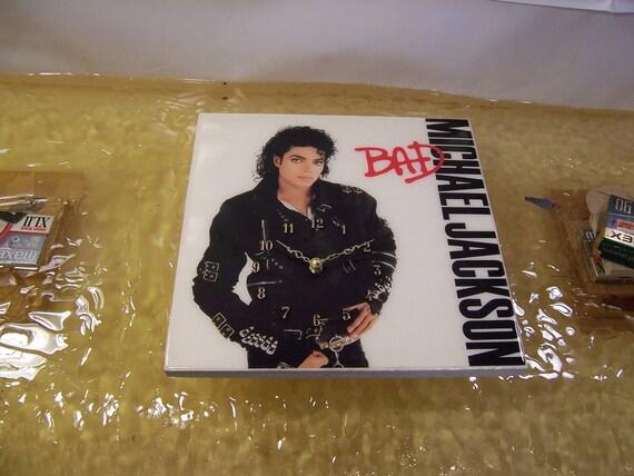 Michael Jackson's Bad Album Cover Clock