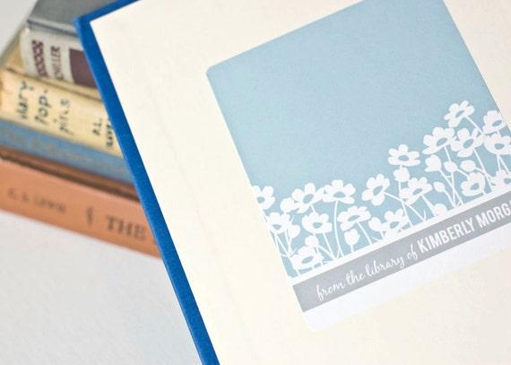Personalized Bookplates, Custom Bookplate Sticker // BRIGHT BUTTERCUPS // Gift Under 15