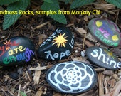Kindness Rocks... paint your own rocks (rocks, paint, handmade brushes)
