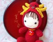 Pattern-Zodiac Dragon/ baby version-Crochet amigurumi doll pattern/PDF