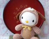 Crochet amigurumi Pattern - Zodiac Dog Kitty - toy doll tutorial PDF