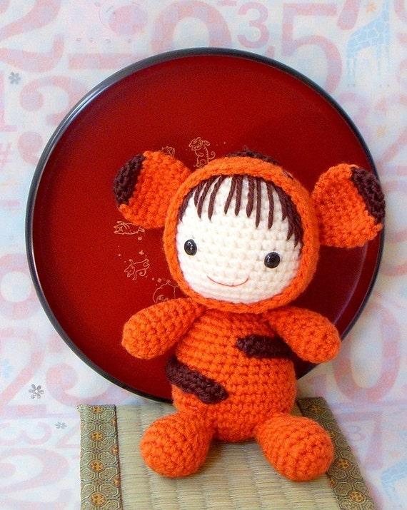 Crochet amigurumi pattern Zodiac Tiger Baby Amigurumi